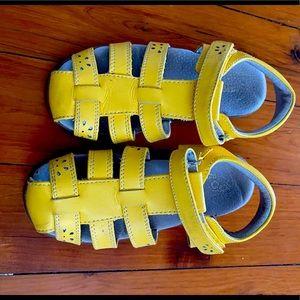 See Kai Run yellow sandals sz. 13